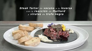 Receta de Steak Tartar de vacuno a la inversa con la reacció