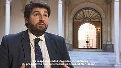 """Presidente de la Región de Murcia: """"El Mar Menor es responsabilidad de todos"""""""