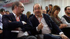 Malestar en las filas del PSOE con cruce de reproches entre Iceta, Page y Lambán por la negociación con ERC