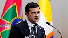 El presidente ucraniano Zelenski, protagonista de una serie