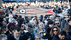 El movimiento de las 'sardinas' se manifiesta en Roma contra la ultraderecha