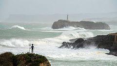Lluvias y fuerte oleaje en el noroeste peninsular
