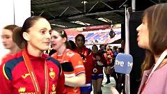 """Silvia Navarro: """"Hemos ganado una plata pero nos vamos con una sensación agridulce"""""""