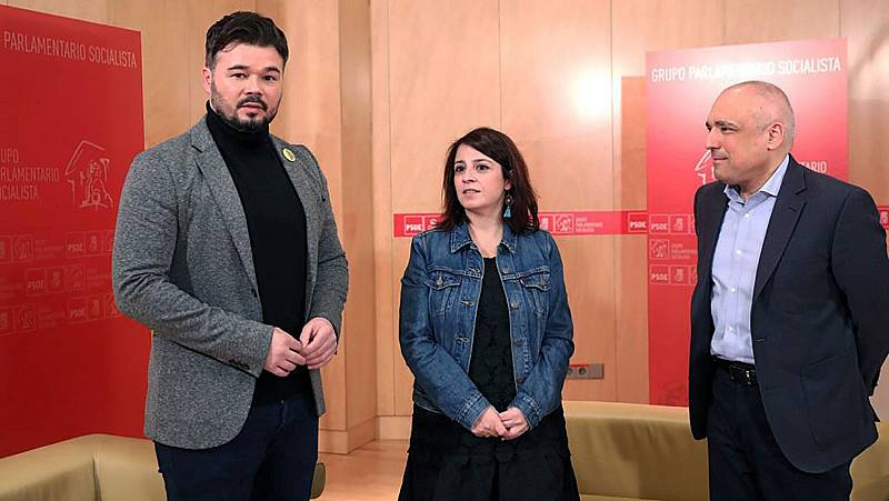 Los tiempos de la investidura y la unilateralidad tensan la negociación entre  PSOE y ERC