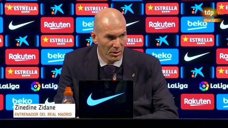 """El entrenador del Real Madrid ha manifestado que su equipo ha hecho méritos para ganar el Clásico pero no ha materializado las ocasiones de gol, """"esto es el fútbol""""."""
