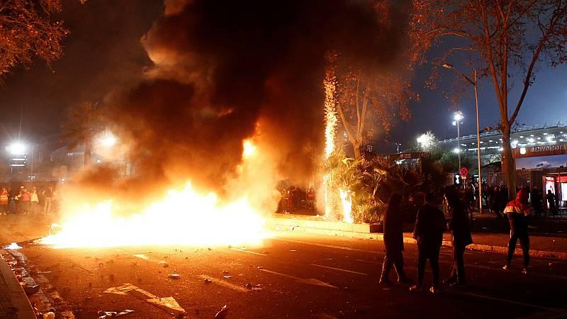 Nueve detenidos en los disturbios en Barcelona tras el Clásico entre el Barça y el Real Madrid