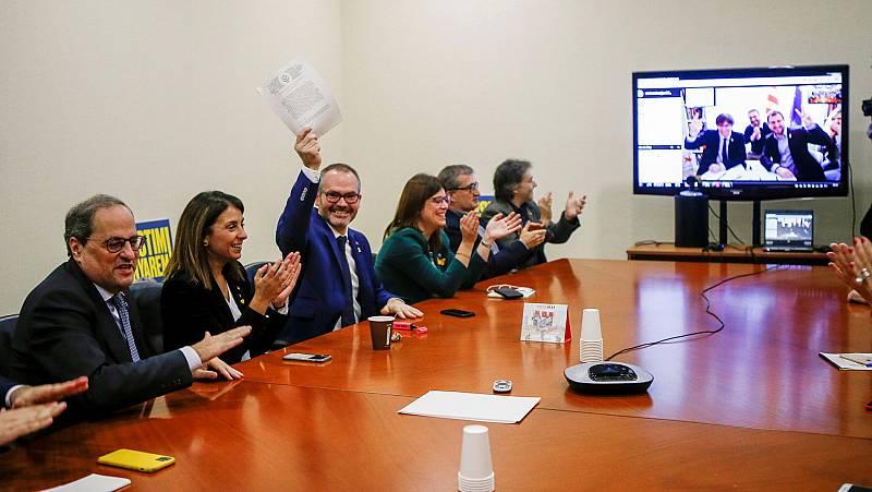 Alegría en ERC y JxCat por la decisión de la justicia europea sobre la inmunidad de Junqueras