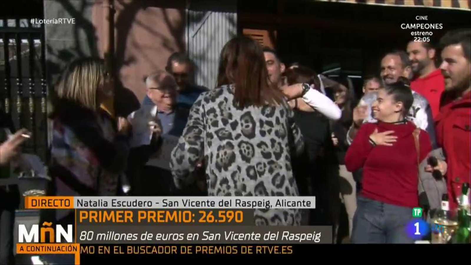 La Mañana - Así celebra esta reportera de La Mañana que le ha tocado la lotería