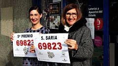 Los quintos premios de la Lotería de Navidad se reparten por casi toda España