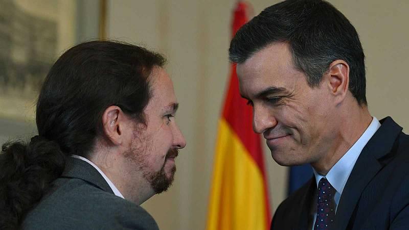 Sánchez e Iglesias presentan esta tarde su programa de gobierno de coalición