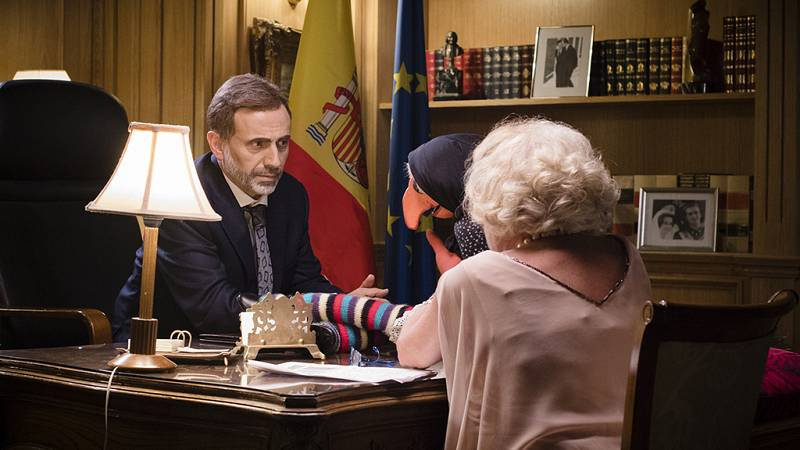 Doña Rogelia visita al Rey Felipe VI