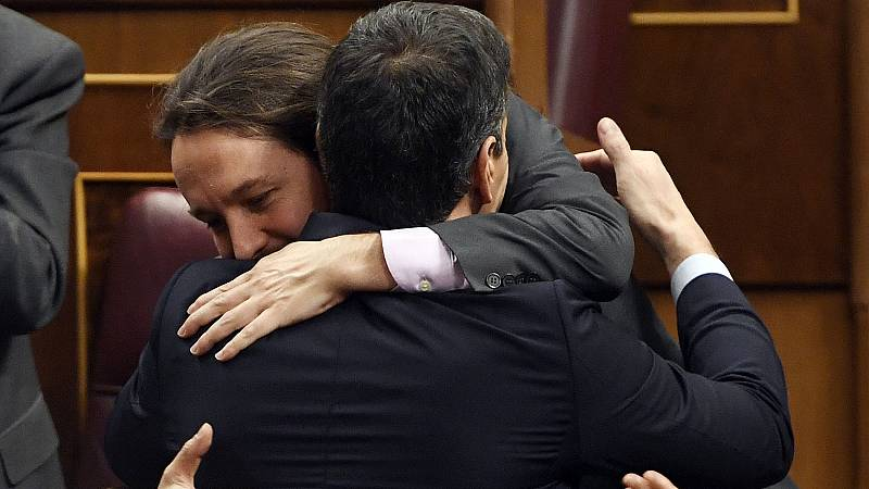 """Sánchez, a Iglesias: """"Demostraremos que somos una izquierda que pudo y supo gobernar"""""""