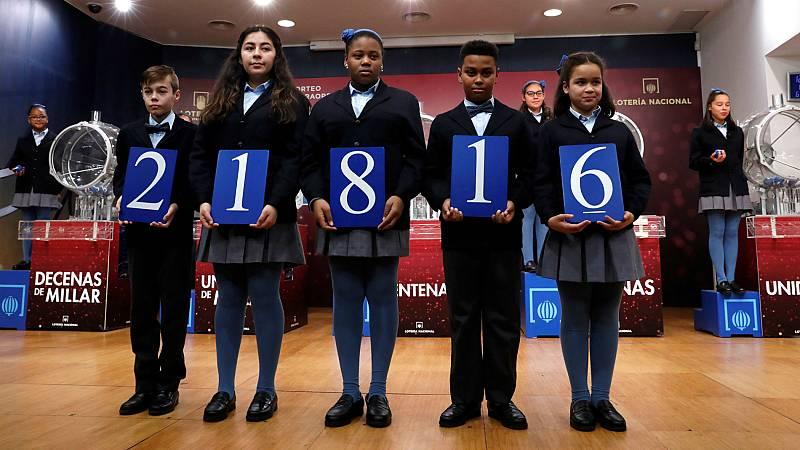 El 21.816, segundo premio del Sorteo Extraordinario del Niño