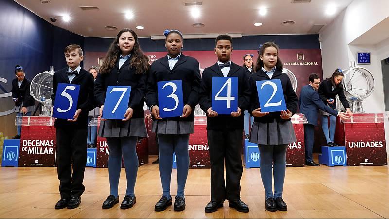 El 57.342, primer premio del Sorteo Extraordinario del Niño