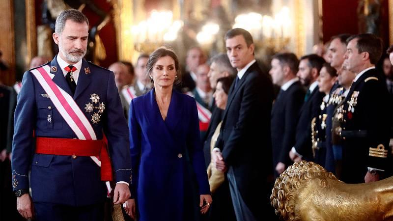 El rey defiende en la Pascual Militar el compromiso de las Fuerzas Armadas con la Constitución