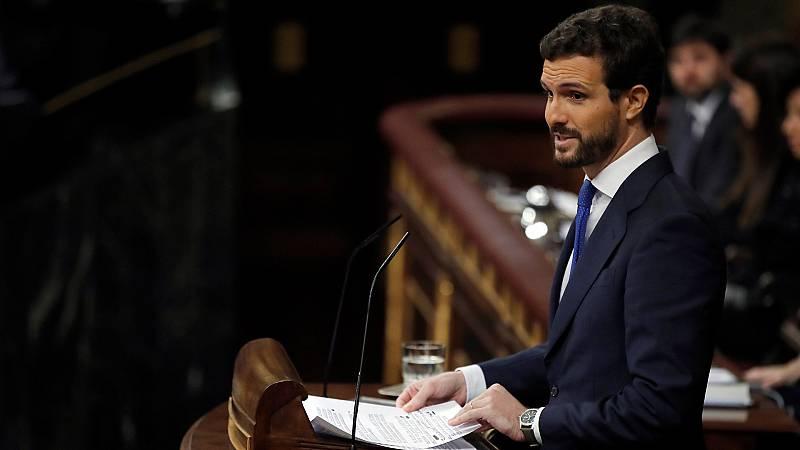 """Casado acusa a Sánchez de """"cambiar el régimen"""" y califica a su Gobierno de """"ultra"""""""