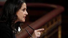 """Arrimadas llama a los diputados del PSOE a romper la disciplina de voto por """"dignidad"""""""