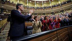 Sánchez es investido presidente del Gobierno con 167 votos a favor, 165 en contra y 18 abstenciones