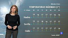 El Tiempo en Andalucía - 08/01/2020