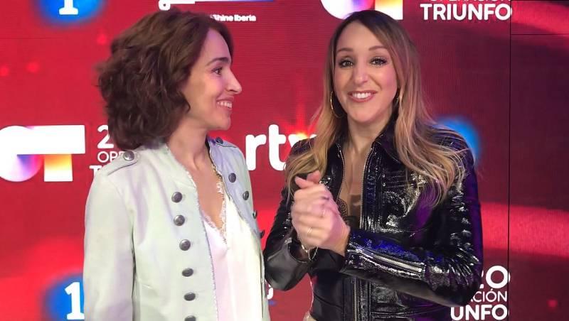 Mamen Márquez, técnica vocal, y Natalia Calderón, voz y movimiento en la Academia de Operación Triunfo 2020