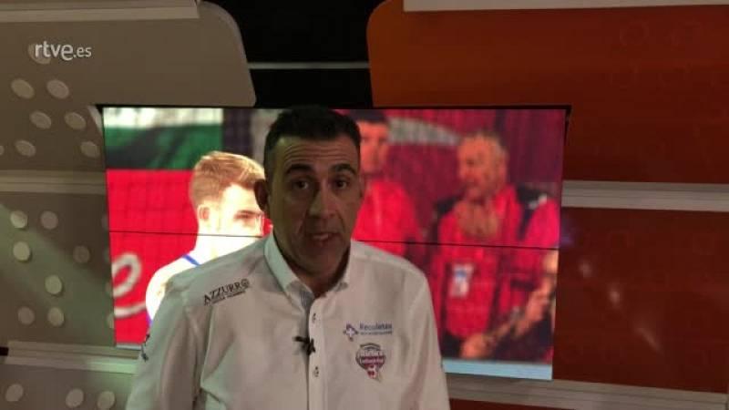El entrenador del Atlético Valladolid analiza el debut de los Hispanos frente a Letonia y lo que puede dar de sí este Europeo.