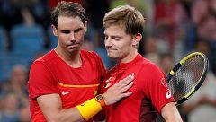 Nadal cae ante Goffin y España se jugara el pase a semis en el dobles
