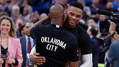 NBA - Oklahoma rinde honores al 'hijo pródigo' Westbrook