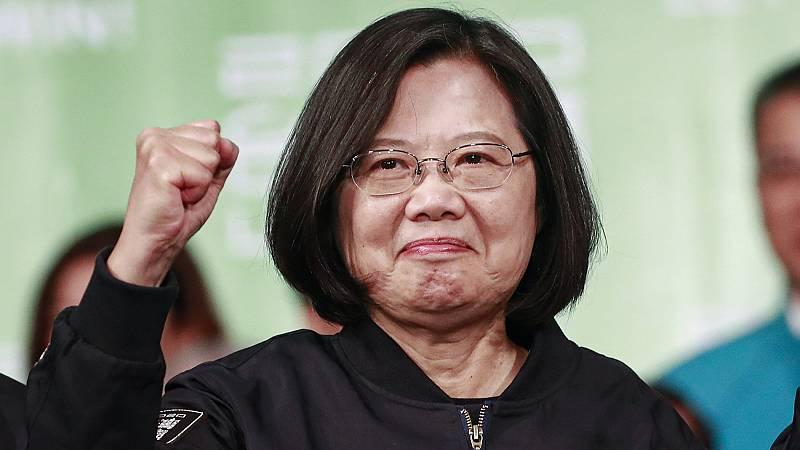 La presidenta de Taiwán obtiene un rotundo triunfo en las elecciones presidenciales