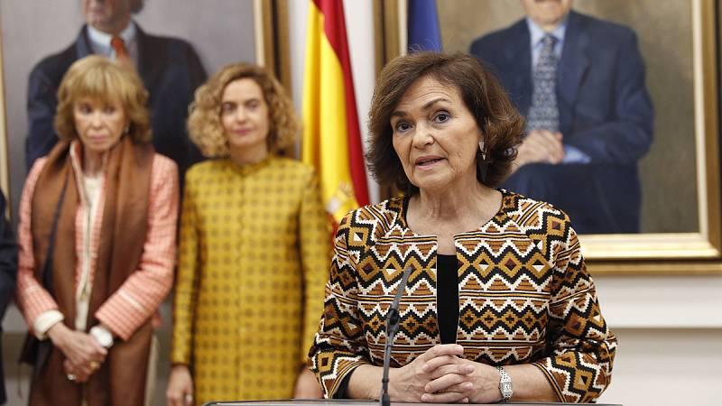 """Carmen Calvo: """"Somos un Gobierno reformista y con una gran apuesta por Europa"""""""