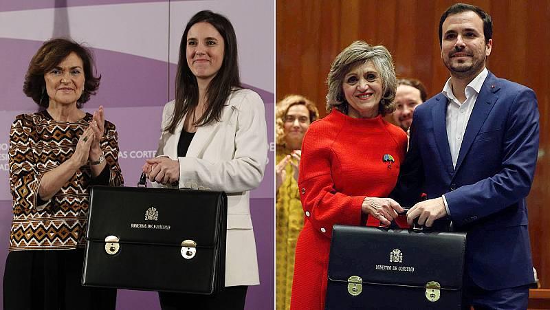 Irene Montero y Alberto Garzón toman posesión como ninistros de Igualdad y de Consumo