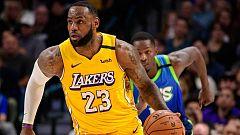 Noche estelar de LeBron y los Lakers en la NBA