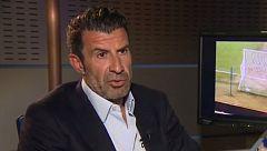 Luis Figo ha visitado TVE y ha analizado el cambio de entrenador en el Barça