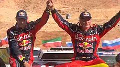 Carlos Sainz y Lucas Cruz suben a lo más alto del podio del Dakar 2020