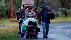 Una nueva caravana de migrantes cruza Guatemala para llegar a México y Estados Unidos
