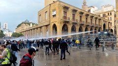Más de 160 manifestantes heridos en enfrentamientos contra las fuerzas de seguridad en Beirut
