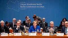 Merkel reúne a Al Serraj y Hafter en Berlín para buscar la paz en Libia