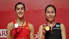 Carolina Marín cae en la final del Masters de Indonesia ante la tailandesa Ratchanok Intanon