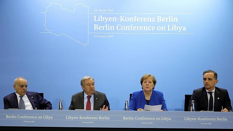 La Conferencia de Berlín sobre Libia acuerda respetar el alto el fuego y el embargo de armas