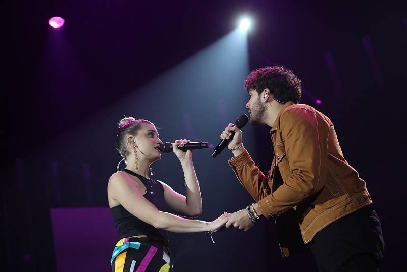 Javy y Samantha han interpretado Te espero aquí, de Pablo López y Georgina, en la Gala 1 de Operación Triunfo 2020