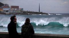 A partir de hoy - Así está azotando la península, Gloria, el primer gran temporal de este invierno
