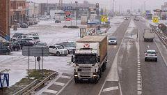 'Gloria' provoca cortes de tráfico, camiones retenidos y dificultades en algunas ciudades