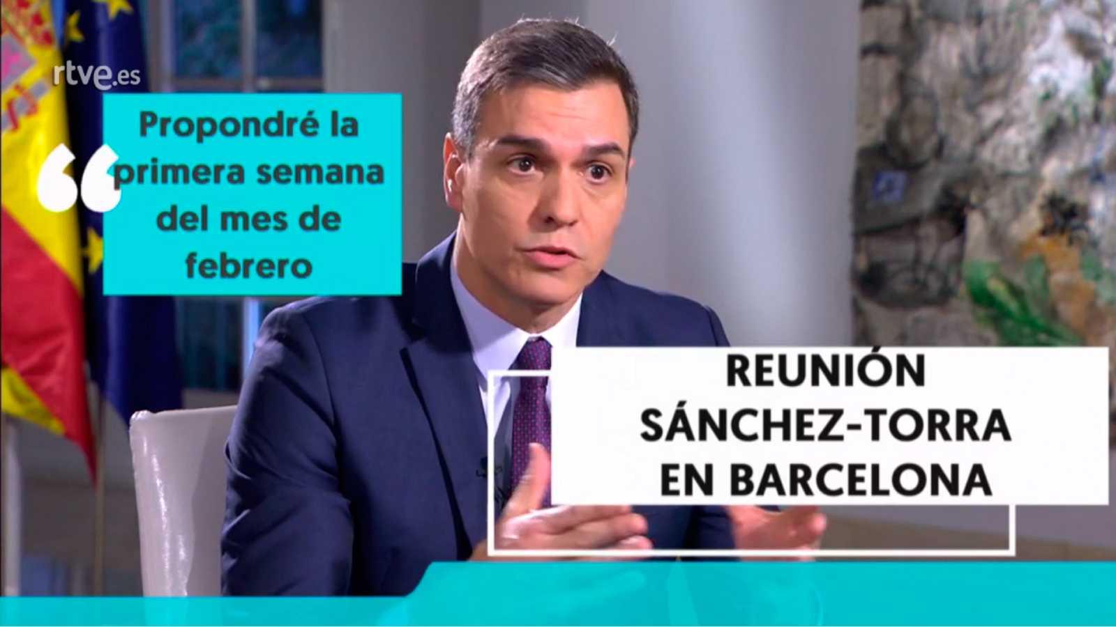 Cinco titulares de la entrevista a Pedro Sánchez en RTVE