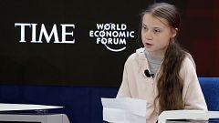 """Greta Thunberg en Davos: """"Nadie ha hecho nada por el clima"""""""