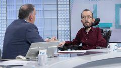 Los desayunos de TVE - Pablo Echenique, portavoz de Unidas Podemos en el Congreso y Juan Marín, vicepresidente de la Junta de Andalucía