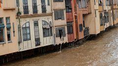 La ciudad de Girona, en alerta ante la crecida del río Onyar por el temporal 'Gloria'