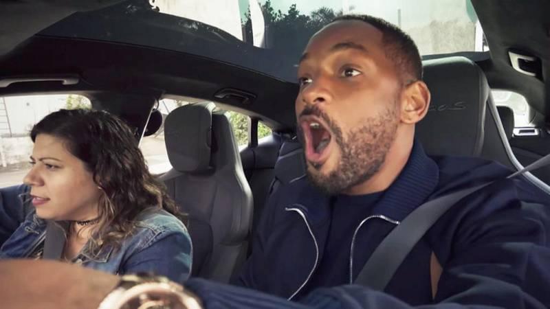 Will Smith se convierte en chófer, por unas horas, sorprendiendo a sus clientes