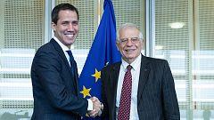 """Guaidó pide """"elecciones libres"""" en Venezuela durante su visita a Bruselas"""