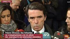 """Aznar y Casado recuerdan a Gregorio Ordóñez, """"un ejemplo para las generaciones jóvenes"""", en el 25º aniversario de su asesinato por ETA"""
