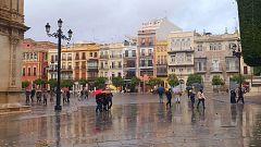 Lluvia fuerte en Andalucía occidental y oeste del sistema Central
