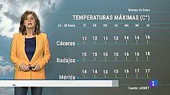 El tiempo en Extremadura - 24/01/20